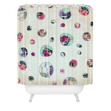 Natalie Baca Circles At Play Shower Curtain