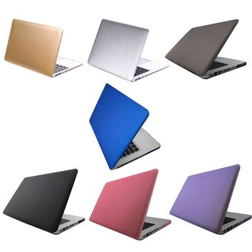 "Crystal Clear Matte Rubberized Hard Case Cover For 13"" Laptop PC Shell For Macbook Air Pro"