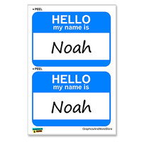 Noah Hello My Name Is - Sheet of 2 Stickers