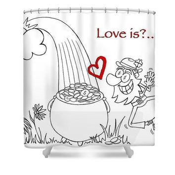 Pot Of Gold Valentines  - Shower Curtain