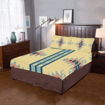Native American Cross Pattern 3-Pieces Bedding Set