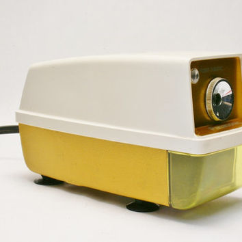Panasonic 1970s Pencil Sharpener in Hard to find Yellow Works and with the Small Light Modern Desktop