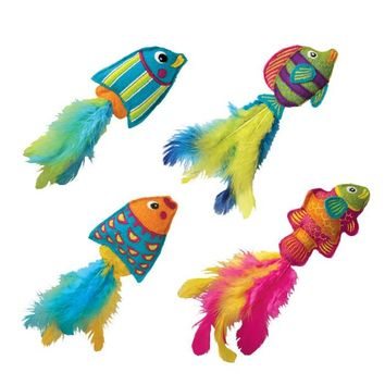 Kong Tropics Fish Catnip Cat Toy