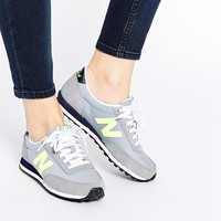 New Balance 410 Grey/Yellow Trainers