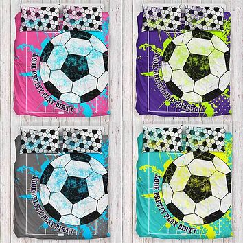 Girls Soccer Bedding