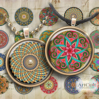 MOROCCAN ORNAMENT CIRCLES - 1.5 inch Digital Collage Sheet Art Cult Printables for pendants and magnets (available 1 inch as well)