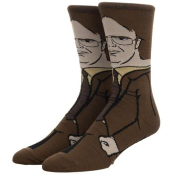 The Office Dwight Schrute Character Crew Socks