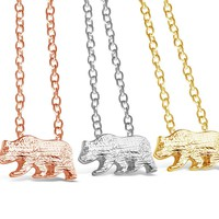 Elegant Dainty Bear Necklace