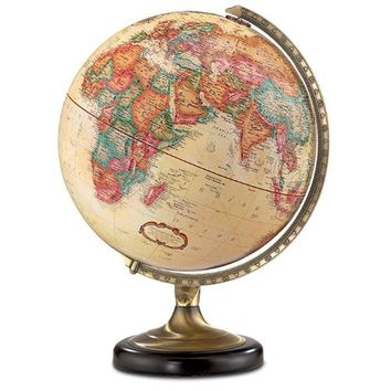 Sierra World Globe - Desk Globe - Antique Finish