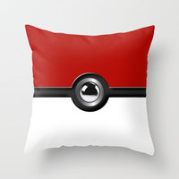 Pokeball Throw Pillow by avdesigns