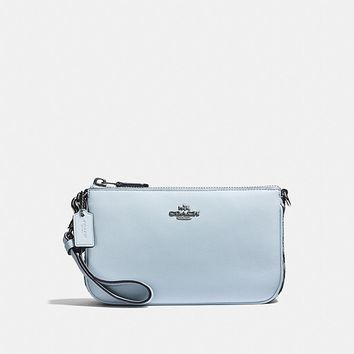Nolita Wristlet 19 With Snakeskin Detail