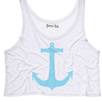 Anchors Crop Tank Top