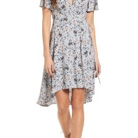 ASTR the Label Adeline Floral Print Wrap Dress | Nordstrom