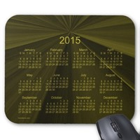2015 Calendar Olive Pinch Knot Mouse Pad