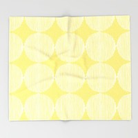 Sunny Circles Throw Blanket by All Is One