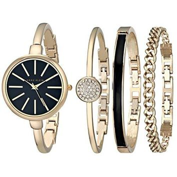 Anne Klein Women's Watch AK/1470 Bangle Watch and Bracelet Set
