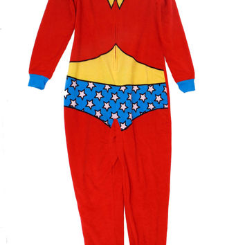 Wonder Woman Fleece Onesuit Zip Junior Pajama