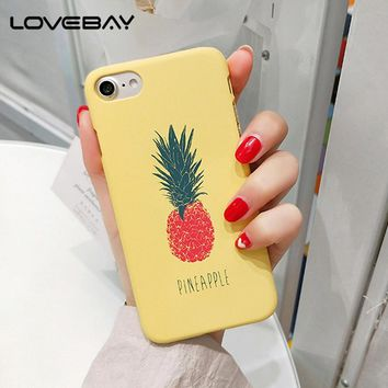 Lovebay Phone Case For iPhone 6 6s Plus 5 5s SE Fashion Cartoon Pineapple Strawberry Watermelon Hard Back Cover Case For iPhone7
