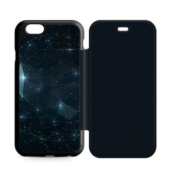 Night Sky Constellations Leather Wallet Flip Case iPhone 6 | 6S