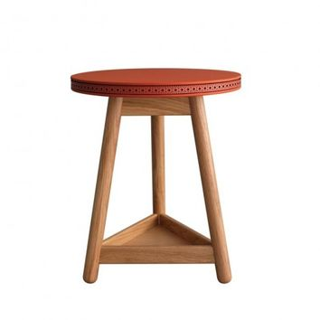 Coral Brogue Side Table