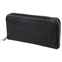 Merona® Solid Zip Around Wallet - Black