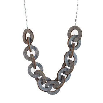Wool felt chain-link necklace