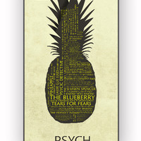 Psych Pineapple Quotes for iPhone 4/4S Case **
