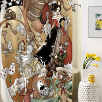 alice in wonderland shower curtain special custom shower curtains that will make your bathroom adorable
