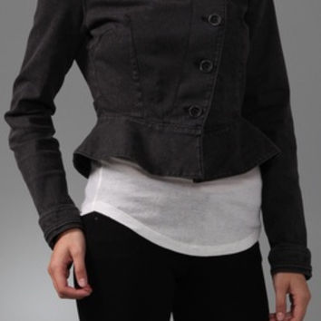 Juicy Couture Equestrian Washed Denim Jacket