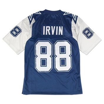 LMFNW6 Mitchell Ness Michael Irvin 1995 Authentic Jersey Dallas Cowboys In Blue