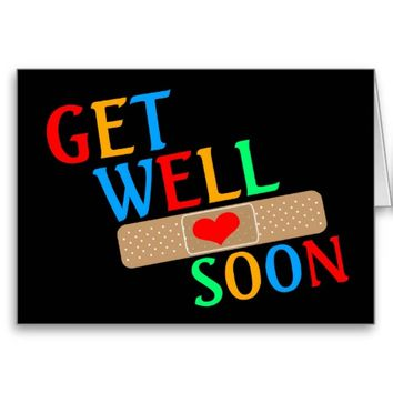 Get Well Soon Plaster And Heart