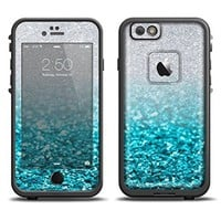 The Turquoise & Silver Glimmer Fade Skin Set for the Apple iPhone 6 LifeProof Fre Case (Skin Only)