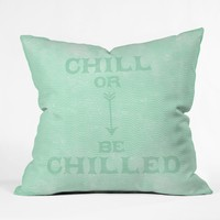 Nick Nelson Chill Or Be Chilled Throw Pillow