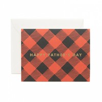 Plaid Happy Father's Day Card