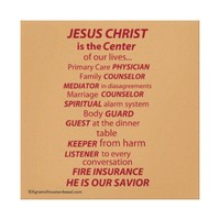 Jesus Christ is the Center of Life Gallery Canvas Print