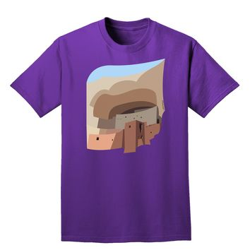 Montezuma Castle Artwork Adult Dark T-Shirt