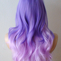 Summer Special // Lilac / Lavender color Ombre wig. Purple color hairstyle. Purple Ombre hairstyle. Colored hairstyle Lolita wig.