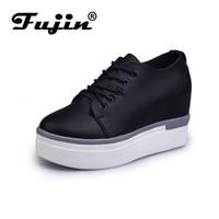 fujin brand spring summer shoes for women casual Shoes increased Woman Pumps wedge toe Pump zapatos mujer tacon