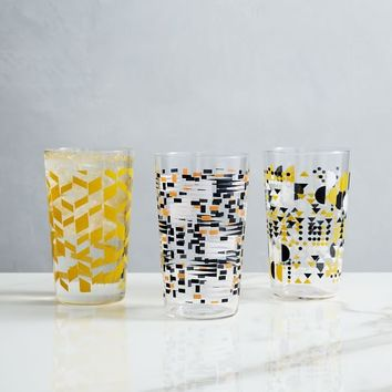 Outdoor Patterned Glassware