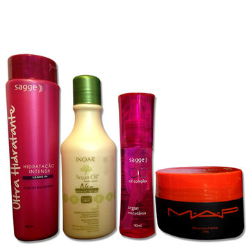 INOAR ARGAN SAGGE LEAVE IN OIL AND MASK HAIR HYDRATING KIT
