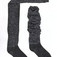 Heathered Knit Over the Knee Socks