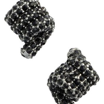MARC JACOBS Pavé Twisted Stud Earrings | Nordstrom