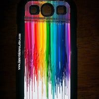 Samsung Galaxy S3 Melted Crayon Design Hard Snap On Samsung Galaxy S3 Case