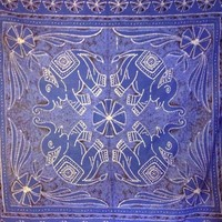Elephant Tapestry Blue Double