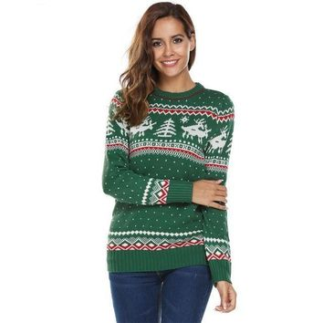 Ugly Christmas Knit Sweater - Naughty Reindeer