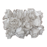 Dove Gray Ruffled Pillow