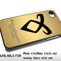 Mortal Instruments Angelic Power Gold Texture - for iPhone 4/4S,5 case iphone 4/4s/5 Case Hard Plastic Cover