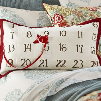 ADVENT CALENDAR LUMBAR PILLOW COVER