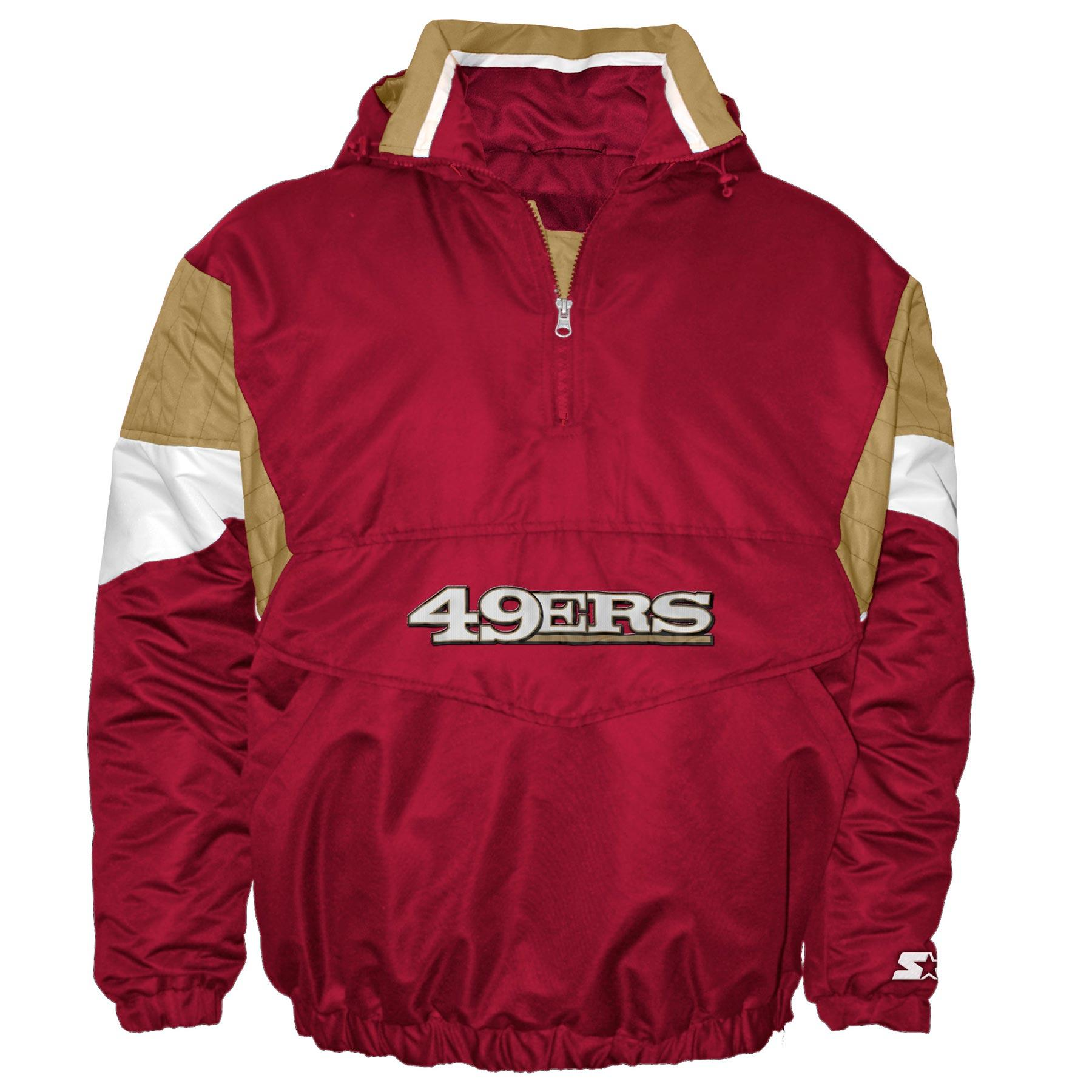 separation shoes 3f185 599c3 San Francisco 49ers Starter Breakaway Pullover Jacket