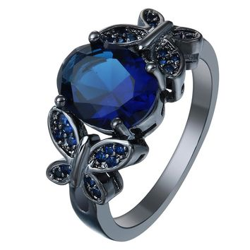 Butterfly Vintage Promise Rings for Women